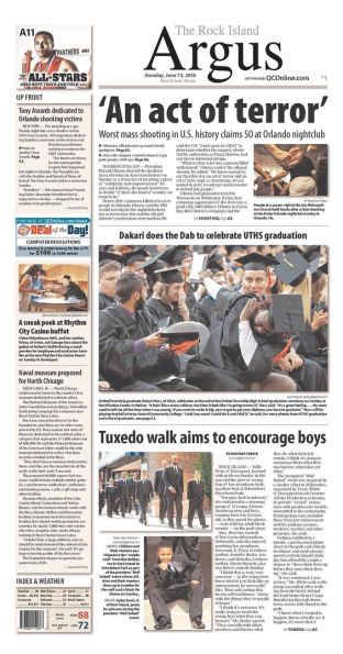 Rock Island Argus Front Page A