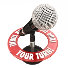 Your Turn Microphone Speak Opinion Give Feedback Words